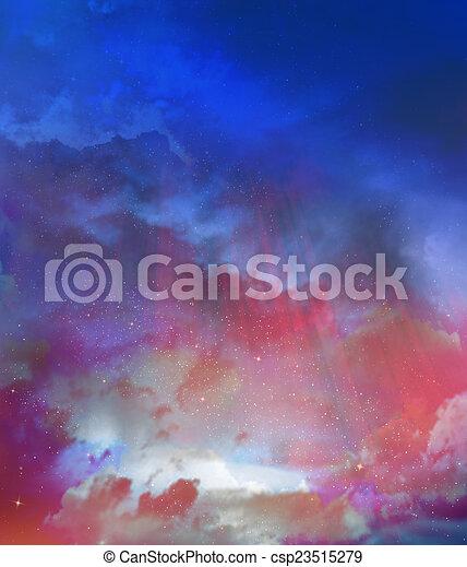 gyönyörű, ég, háttér - csp23515279