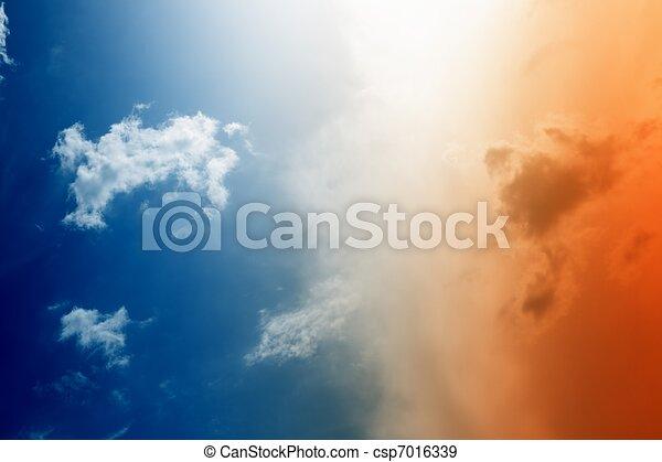 gyönyörű, ég - csp7016339