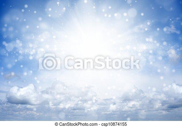 gyönyörű, ég - csp10874155