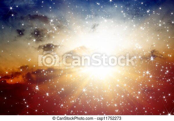 gyönyörű, ég - csp11752273