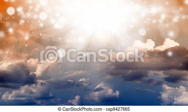 gyönyörű, ég - csp9427665