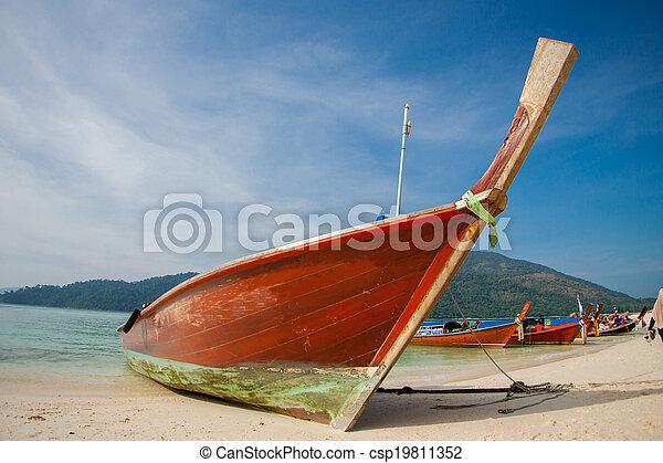 gyönyörű, antenna, tengerpart, kilátás - csp19811352
