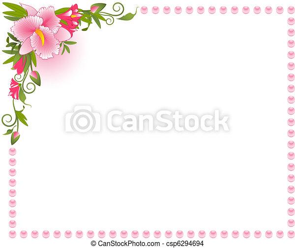 gyönyörű, háttér, orhidea - csp6294694