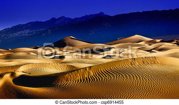 gyönyörű, halál, dűne, homok, kalifornia, keletkezések, völgy - csp6914455