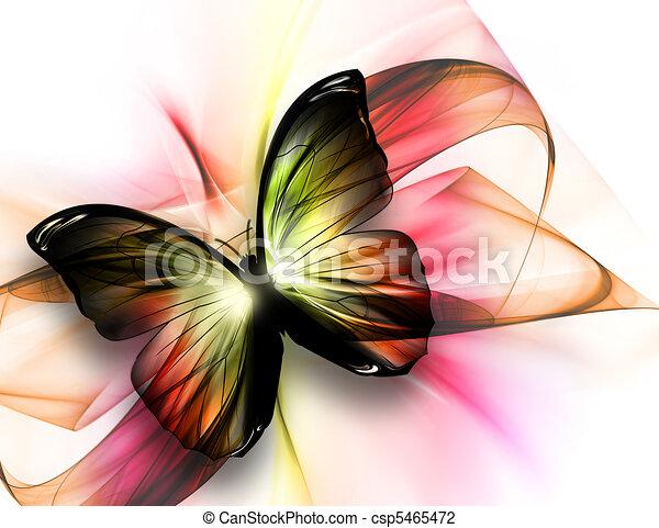 gyönyörű, lepke - csp5465472