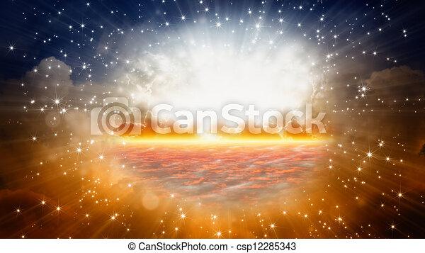 gyönyörű, napkelte - csp12285343