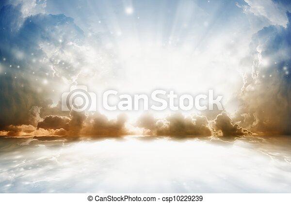 gyönyörű, napkelte - csp10229239