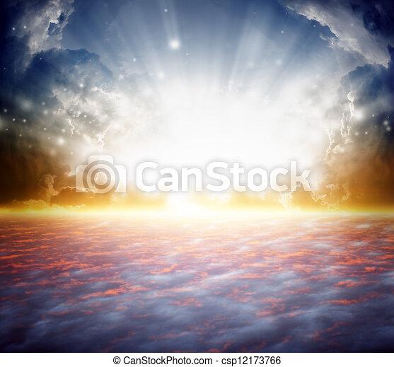 gyönyörű, napkelte - csp12173766
