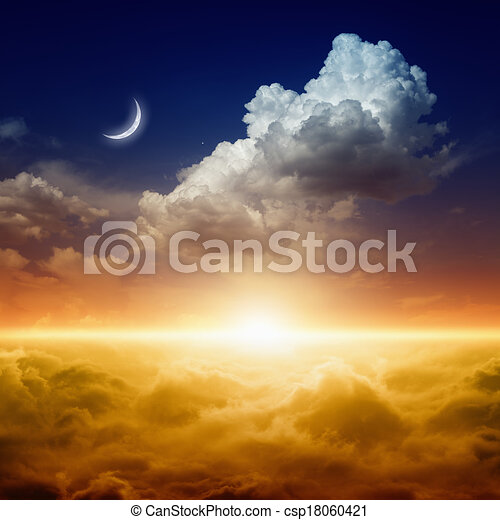 gyönyörű, napnyugta - csp18060421