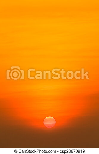 gyönyörű, napnyugta, felül, tenger - csp23670919