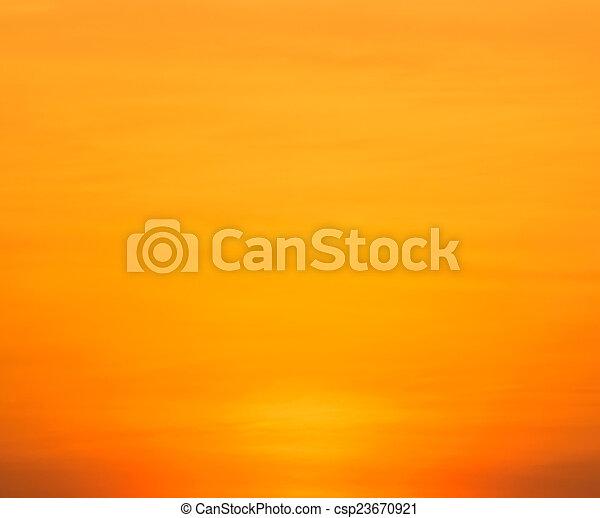 gyönyörű, napnyugta, felül, tenger - csp23670921