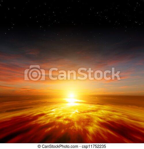 gyönyörű, napnyugta - csp11752235