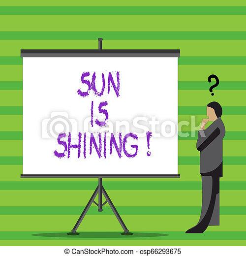 gyönyörű, nyár, természetes, ügy, parkosít., nap, kiállítás, napfény, napok, shining., írás, jegyzet, csípős, fénykép, showcasing, élvez - csp66293675