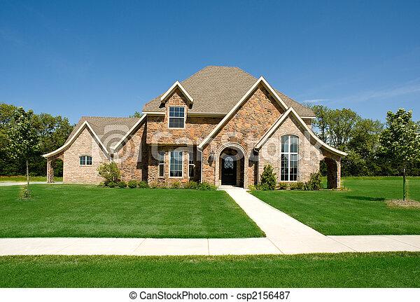 gyönyörű, otthon, vagy, épület - csp2156487