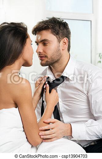 gyönyörű, párosít, szerelmes pár, romantikus - csp13904703