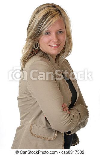 gyönyörű woman, ügy - csp0317502