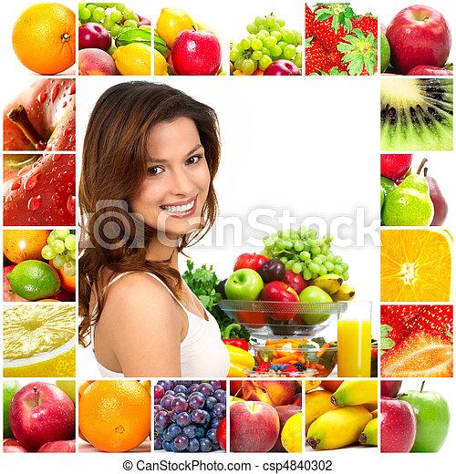 gyümölcs, nő - csp4840302