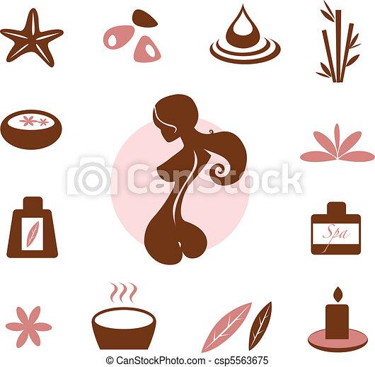 gyűjtés, ikon, wellness, ásványvízforrás - csp5563675