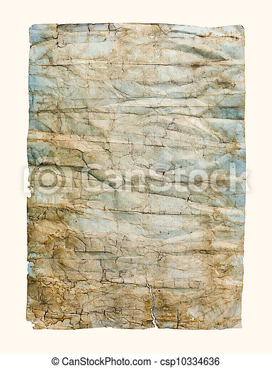 gyűrött újság, öreg, struktúra - csp10334636