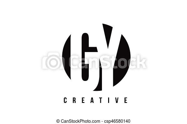 Gy G Y White Letter Logo Design With Circle Background Gy G Y White