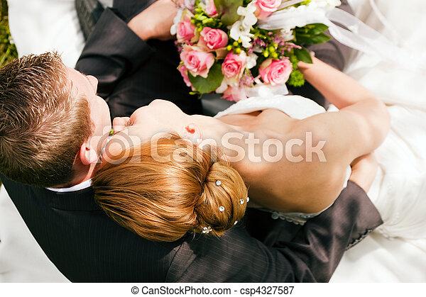 gyengédség, -, esküvő - csp4327587