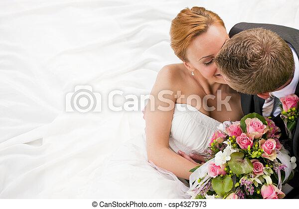 gyengédség, -, esküvő - csp4327973