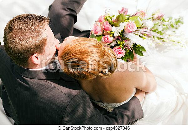 gyengédség, -, esküvő - csp4327046