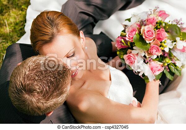 gyengédség, -, esküvő - csp4327045