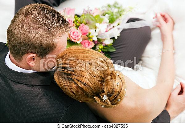 gyengédség, -, esküvő - csp4327535