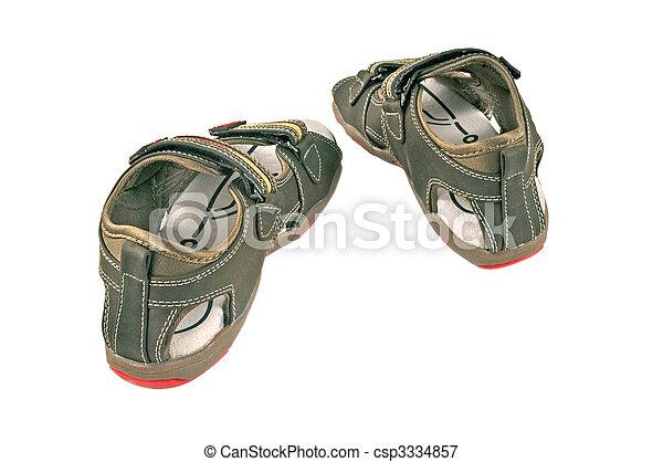 gyerekek, 3, cipők - csp3334857