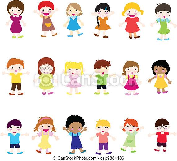 gyerekek, boldog - csp9881486
