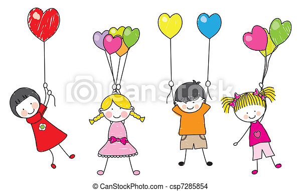 gyerekek, boldog - csp7285854