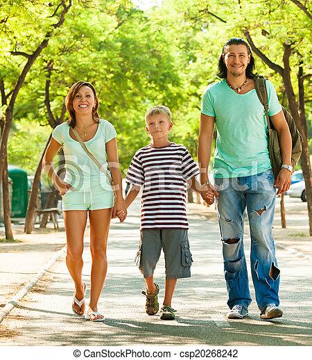 gyermek, három, család, tizenéves - csp20268242