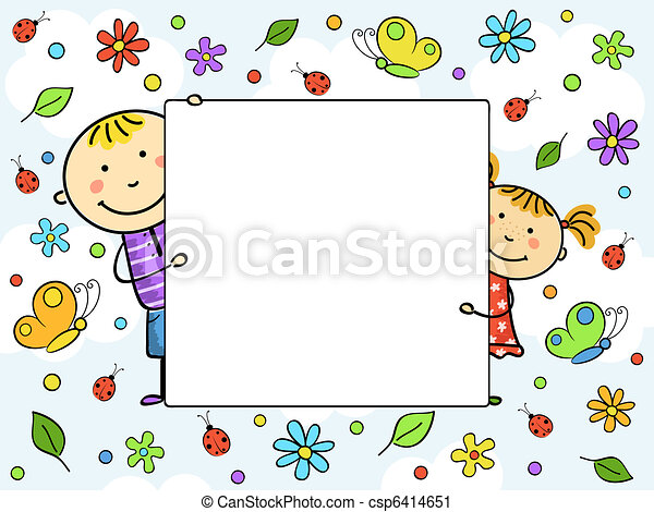 gyermekek, frame. - csp6414651