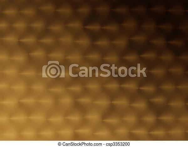 gyllene, abstrakt, bakgrund - csp3353200