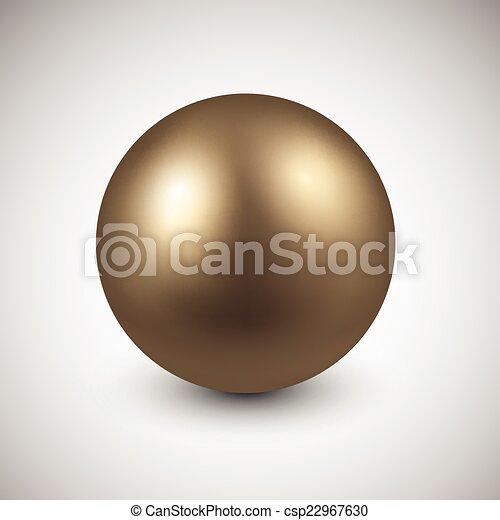 gyllene, ball. - csp22967630