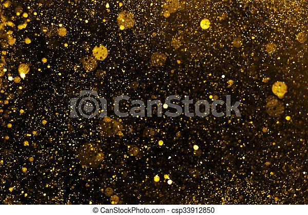 gyllene, lyse, defocused, bakgrund, glitter, jul - csp33912850