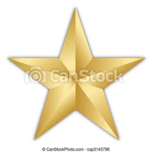 gyllene, stjärna - csp3143796