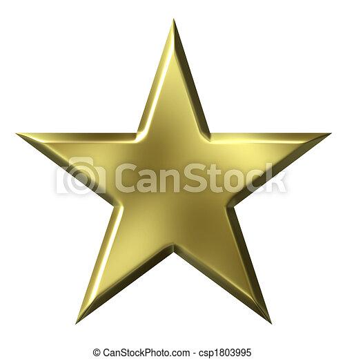 gyllene, stjärna - csp1803995