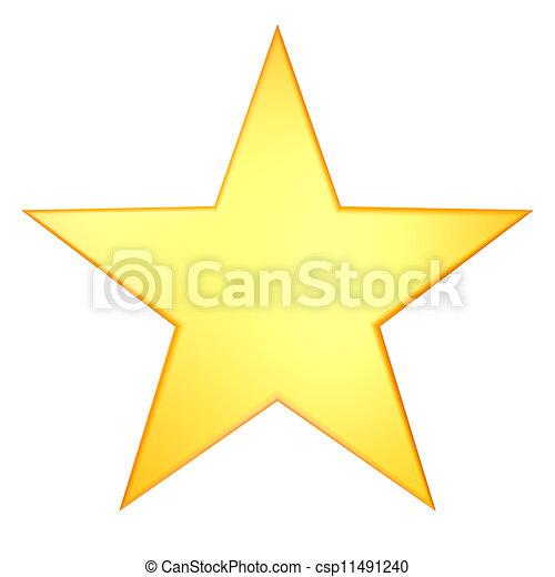gyllene, stjärna - csp11491240