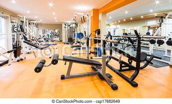 Gym and fitness room. - csp17682649