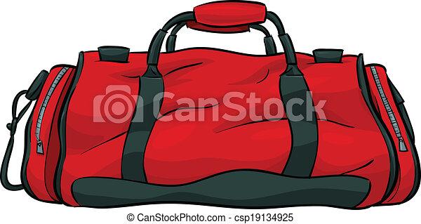 A Red Cartoon Gym Bag Vector Illustration