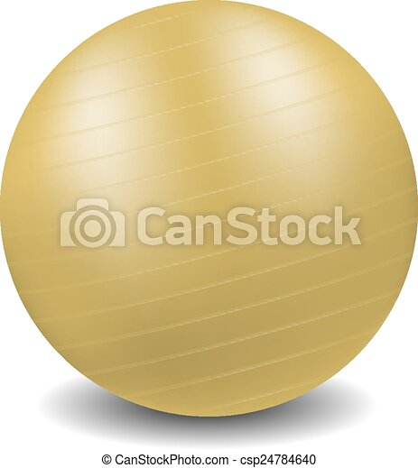 Gym ball in orange design - csp24784640