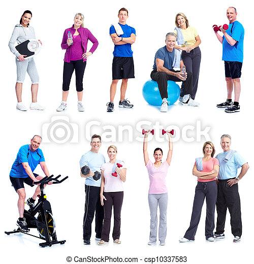 Fitness y gimnasio. - csp10337583