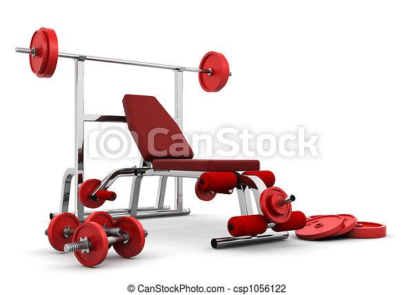 Gym equipment - csp1056122
