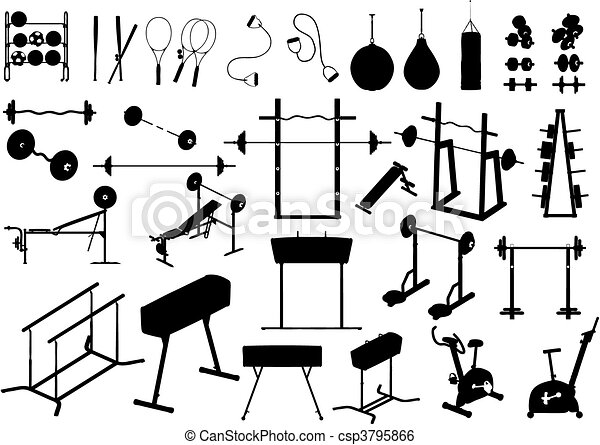 Gym Equipment Vector Gym Equipment Made In Vector