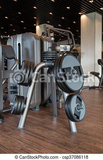 Gym Fitness Center Interior - csp37086118