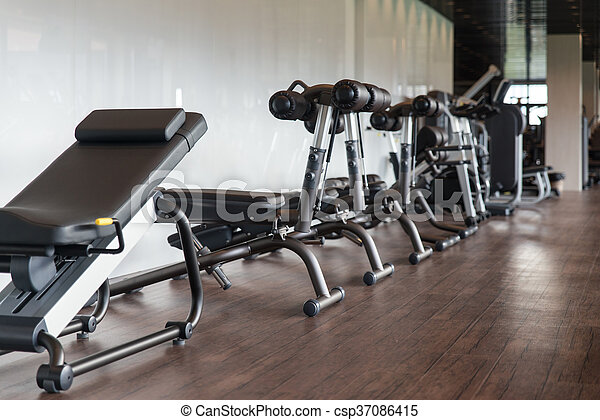 Gym Fitness Center Interior - csp37086415