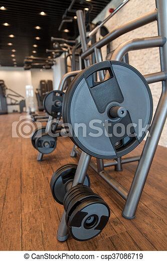 Gym Fitness Center Interior - csp37086719