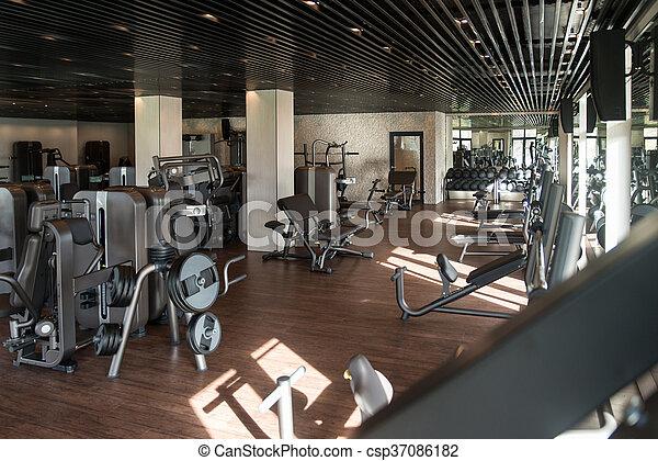 Gym Fitness Center Interior - csp37086182